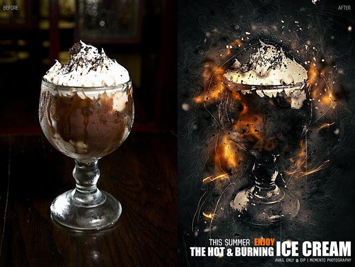The Hot & Burning Ice Cream. RT@46° #Ahmedabad, #BurningAhmedabad