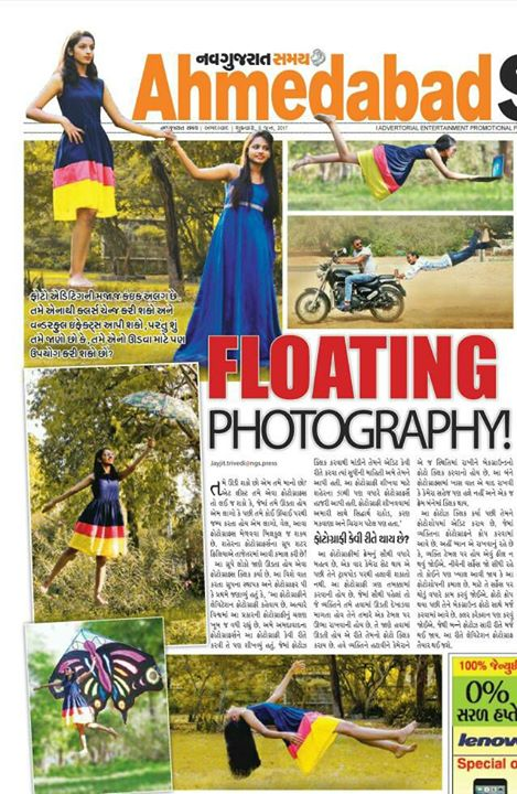 All the #effort in the world won't matter if you're not #inspired ..  #Levitation (#Floating) Pics Published on Front Page of Todays Ahmedabad Samay  (Navgujarat Samay) 09-06-2017.  I am grateful to #ShutterPhiliya Group and Mr. PK Pratham for giving me a wonderful opportunity. I would like to thank you guys from the bottom of my heart! I appreciate your words of encouragement and your continued interest in my photography.  #ShutterPhiliya #Photogrphy #NavGujaratSamay #NGS #Lawgarden #Ahmedabad #GWS #TemShutterPhiliya