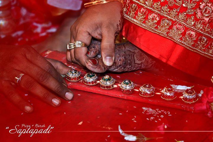 Saptapadi . Priya 🤝 Harsh wedding moments.. . #couplegoals #wedding #hasthmelap #handshake #smiles #rituals #ahmedabad  #Photography #wedwise #shaadisaga #weddingdiaries❤️ #wedzo #shaadicircle #weddingday #weddingphotography #together #candid #forever #relationshipgoals #lovers #groom #_ip # #weddinginspiration #weddingphotographer #groom #bride #indianweddings . Contact - 9924227745 Email us- 📧mementoevent@gmail.com
