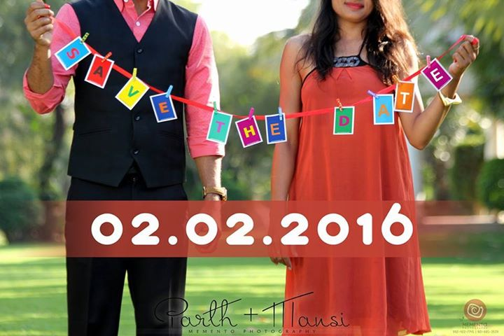 Mark Your Calendars!  The day is fast approaching and we can hardly wait. We want you to celebrate with us So be sure to save the date! #SaveTheDate  - Mansi Modi & Parth Gandhi