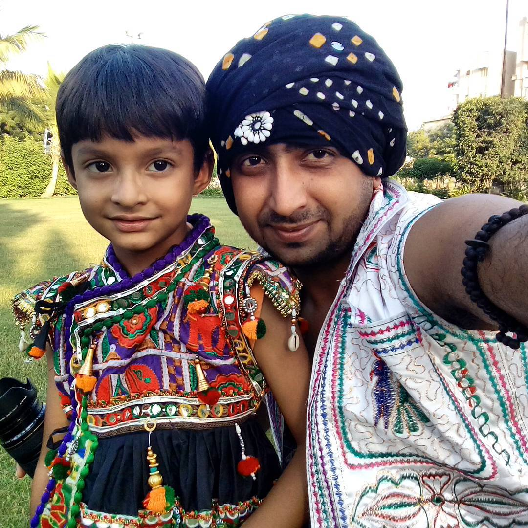 Our chhote Garba player.. #navratri #selfie  #garba #ahmedabad