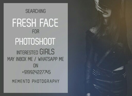 Searching #FreshFace for #FashionShoot  inbox me on dip.thakker@gmail.com Whatsapp on +91 9924227745  #fashionphotography  #MementoPhotography