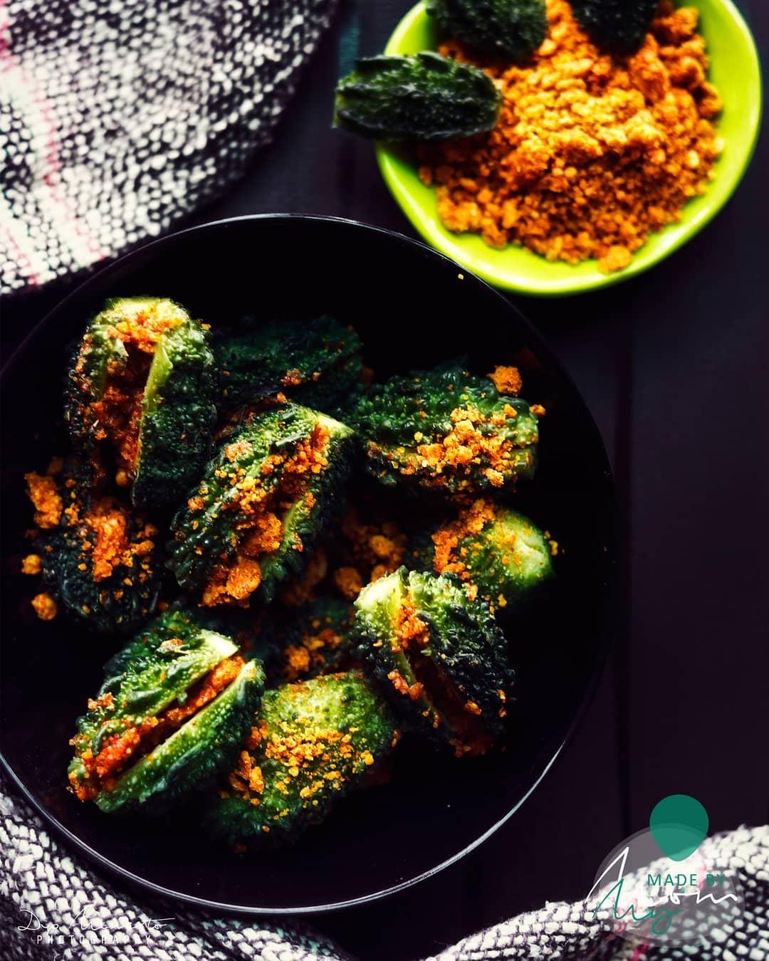 Stuffed Karela or Bharwan Karela or Stuffed Bitter Gourd, is gourd with besan masala. Stuffed Karela ... From #madebymom How many of you like it?? . . 🥒🥒🥒🍋🍋🍋🥔🥔🌶🌶 Food Shoot :@dip_memento_photography 🥒🥒🍋🍋🍋🥔🥔🌶🌶 . . #ahmedabad  #hungrito #foodporn #foodphotography #happymood  #happiness #foodpic #foodoftheday #foodlover #foodie #foodlove #foodporn #hungrito #productPhotography #Productshoot #foodclicks #aighungrito  #fooddi #happyPeople  #picoftheday #photoholic #magazine #magazineshoot  #magazinephotography #ahmedabadifoodholics