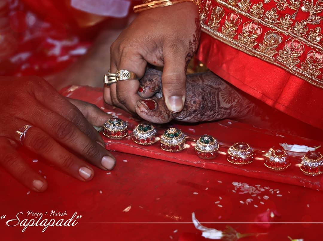 #Saptapadi! . . Priya 🤝 Harsh wedding moments.. . #couplegoals #wedding #hasthmelap #handshake #smiles #rituals #ahmedabad  #Photography #wedwise #shaadisaga #weddingdiaries❤️ #shaadicircle #weddingday #weddingphotography #together #candid #forever  #relationshipgoals #lovers #groom #lovedose # #weddinginspiration #weddingphotographer #groom #bride #indianweddings . Contact - 9924227745 Email us- 📧mementoevent@gmail.com .  @POPxo.wedding @indian_wedding_inspiration @weddingdiary @_punjabi_weddings @indianweddingbuzz @weddingsutra @wedmegood @wedzo.in @indianstreetfashion @weddingz.in @indian_wedding_bliss @bridalaffairind @theweddingbrigade @weddingplz @weddingfables  @dulhaanddulhan @thebridesofindia @indianweddings @weddingdream @weddingdresslookbook @shaadisaga @zo_wed @thinkshaadi @wedabout @shaadiwish @weddingwire @weddingwireindia @wedabout @shaadisquad