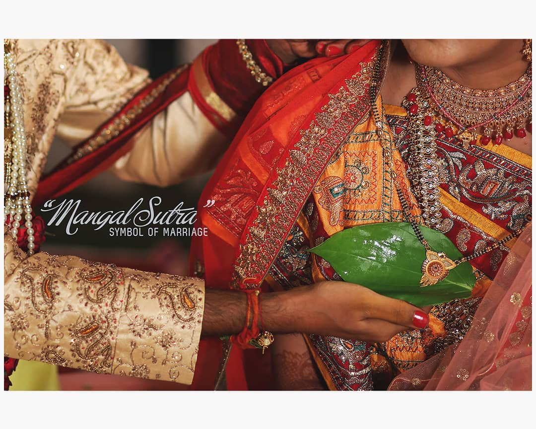 Mangal Sutra- . . . In Hindu traditions and culture, a woman has to wear five signs of marital status – the Mangalsutra, toe rings, Kumkum, bangles and a nose ring. Of these five, Mangalsutra is the most important. The word 'mangal' means sacred and 'sutra' means thread – therefore, Mangalsutra implies 'a sacred thread'. This concept of wearing Mangalsutra is believed to have started in South India, where it is called thaaley or thali or mangalyam. Traditionally it was a yellow thread smeared with turmeric paste, which was tied in three knots around the bride's neck. However, with changing times, it evolved with black and golden beads on the thread, and is now worn as a necklace.  The Hindu culture also believes that a woman wearing a Mangalsutra, should never part with it until her husband's death. And if the thread of the Mangalsutra breaks for some reason, it is considered to be a bad omen.  Cc:culture trip . . . #hinduwedding #bride #hinduweddingphotographer #weddingphotography  Weddding shoot @dip_memento_photography  #bridetobe #coupleshoot #haldifunction #bridal #brideandgroom #beautifulbride #bridal #haldi #groom #groomandbride #groomandgroom #beautifulfoodforyou. #celebration #weddingsku #weddingsutra #weddingseason #BetterTogether #beautifulbride #BetterTogether #brideandgroom