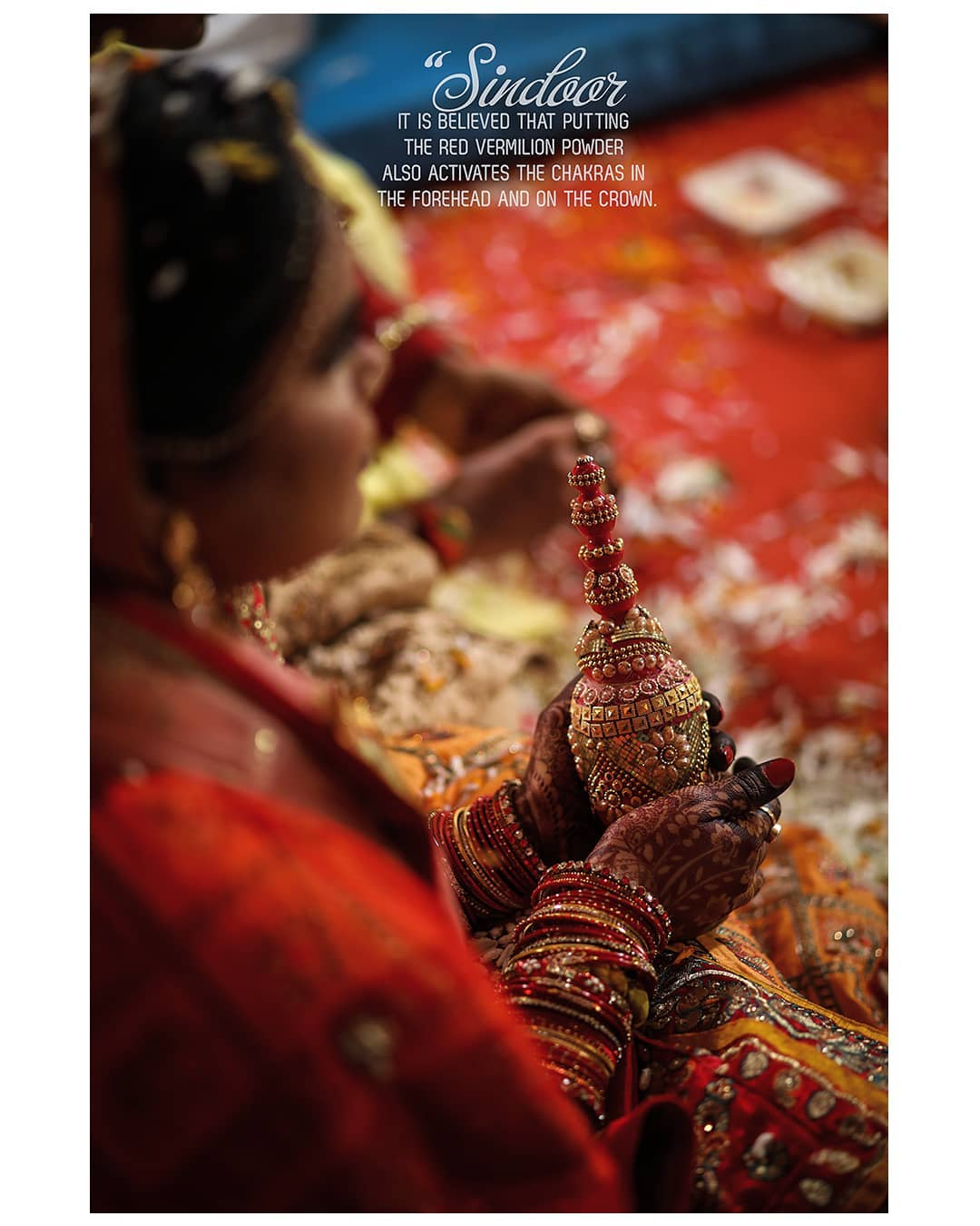 #Sindoor _ Symbolic of Married Hindu Woman. . . Sindoor is applied for the first time to a Hindu woman during the marriage ceremony when the bridegroom himself adorns her with it. The ceremony is called Sindoor-Dana and is very much in vogue even in present times. Religious scholars say that there has been no mention of this ceremony before the Grihasutras hence it is considered to be a relatively new practice.... .  Sindooor or vermilion holds lot of importance in Indian society. The tradition of application of sindoor in the parting of hair by married Hindu women is considered extremely auspicious and is being carried on since centuries. . . Symbolic of Married Hindu Woman In traditional Hindu society, wearing sindoor is considered must for married Hindu women. It is a visible expression of their desire for their husbands' longevity. Traditionally therefore, widows did not wear vermilion. . . . #hinduwedding #bride #hinduweddingphotographer #weddingphotography  Weddding shoot @dip_memento_photography  #bridetobe #coupleshoot #haldifunction #bridal #brideandgroom #beautifulbride #bridal #haldi #groom #groomandbride #groomandgroom #beautifulfoodforyou. #celebration #weddingsku #weddingsutra #weddingseason #BetterTogether #beautifulbride #BetterTogether #brideandgroom
