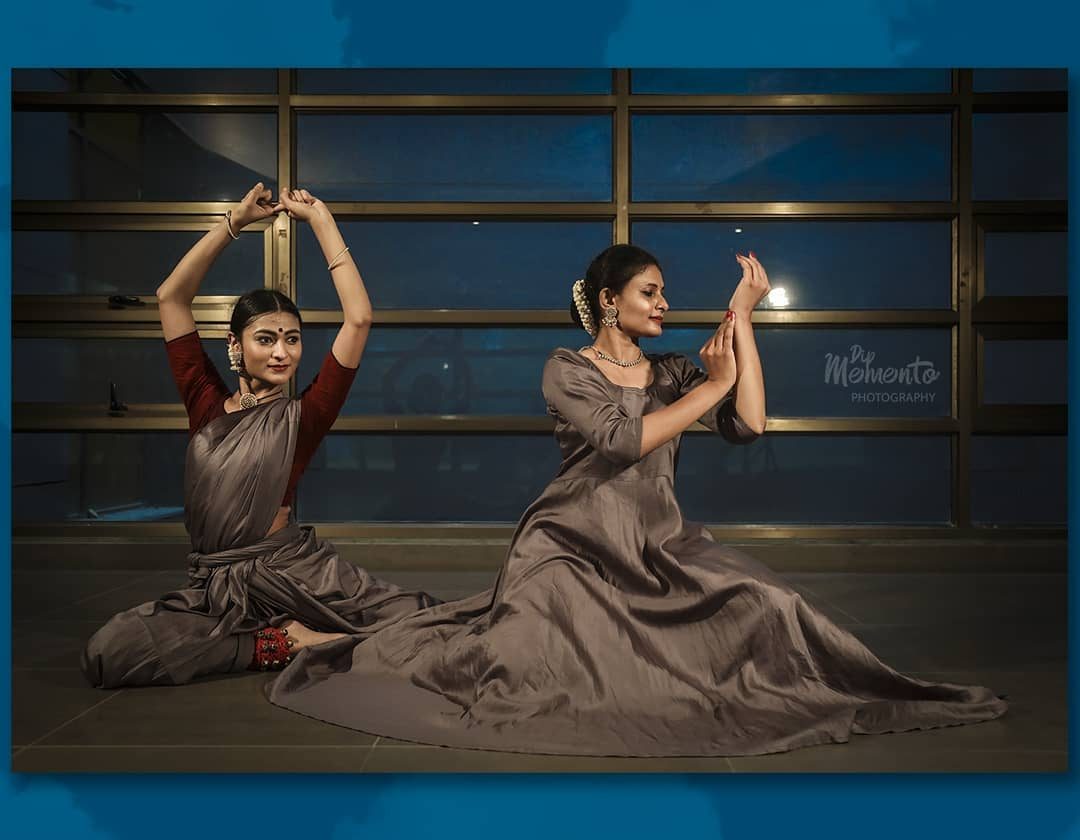 Nritta is dance, act, gesticulate and play in the Indian traditions.  The articulation of movements in dynamic way is the best representation in classical dances.  Here,  Mansi modi and mansi karani are the flow of river and power of mountain in the captured picture.  Presenting shringar rasa in two classical dance styles. #Kathak And #Bharatnatyam..  ※Dance video shoot project  @lovefornritya(Kathak) @manasikarani(Bharatnatyam) 📸@dip_memento_photography  Support & Help👌@komalpatel_16 . . #dancephotographer #DANCEPHOTOGRAPHY #dance#indianclassicaldancers#indianclassicaldance#kathakdancers#bharatanatyamdancers #9924227745 #dipmementophotography #dipthakkar#dancerslife#bharatnatyam#movement#indiandance#dancers#dancersofinstagram#kathakdance #itsadancelife🌱 #portrtait  #danceposes